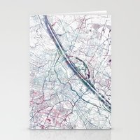vienna Stationery Cards featuring Vienna map by MapMapMaps.Watercolors