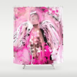 Breast Cancer Angel #2 Shower Curtain