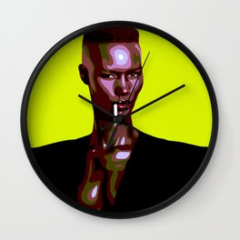 Warm Leatherette Wall Clock