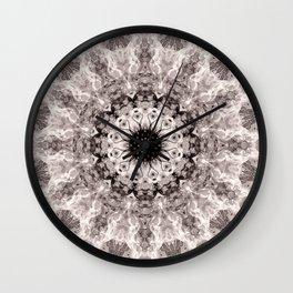Mandala. Cream and brown. Wall Clock