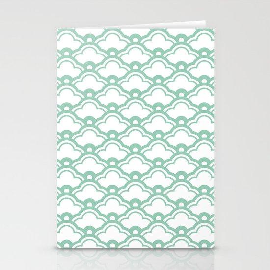 matsukata in grayed jade Stationery Cards