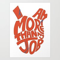Job =/= Self Art Print