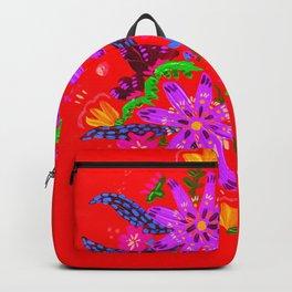 Orange Violets Backpack