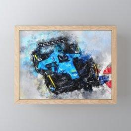 Nelson Piquet junior, Formula E Framed Mini Art Print