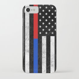 Fire Police Flag iPhone Case
