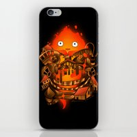 pocket iPhone & iPod Skins featuring Pocket Calcifer by Natalie