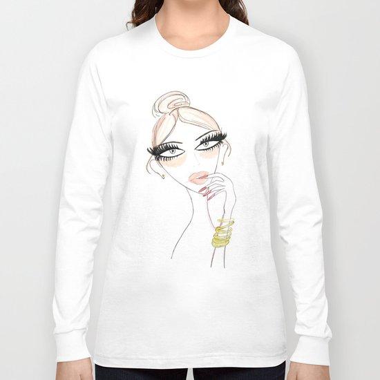 Thinking Babe Long Sleeve T-shirt
