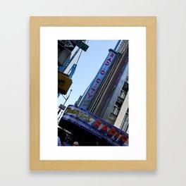 New York City Radio City Music Hall Framed Art Print