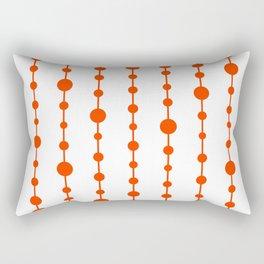 Orange vertical lines and dots Rectangular Pillow