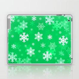 Light Green Snowflakes Laptop & iPad Skin