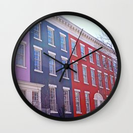Colourful Streets Greenwich Village, NYC Wall Clock