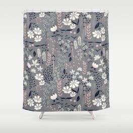 Flower garden 003 Shower Curtain