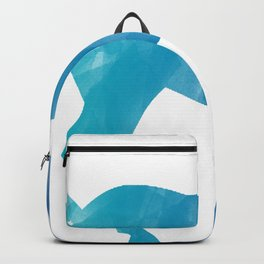 The Horse Blue Watercolor Backpack