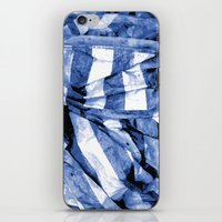 bands iPhone & iPod Skins featuring Blue Bands by Motif Mondial