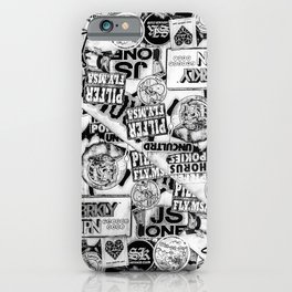 Black and White Urban Collage Print iPhone Case