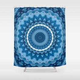Blue mandala 2 Shower Curtain