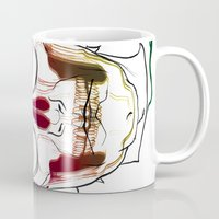calavera Mugs featuring Calavera by Nuria R. Artuñedo