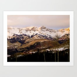 Telluride Mountains Art Print