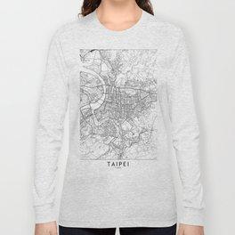 Taipei White Map Long Sleeve T-shirt