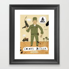 Colonel Decker Framed Art Print