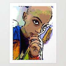 8-Bit Izzy Art Print
