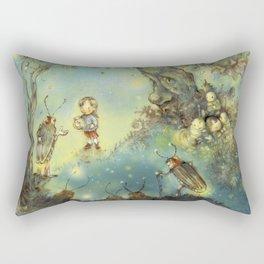 Firefly Forest Rectangular Pillow