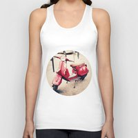 vespa Tank Tops featuring vespa by iokk