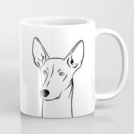 Ibizan Hound (Black and White) Coffee Mug