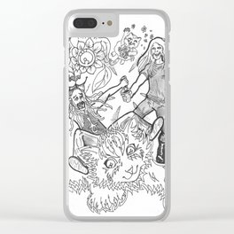 I Sees Kitties! Clear iPhone Case