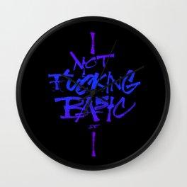Not Fucking Basic Wall Clock