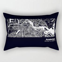 Amsterdam City Map Rectangular Pillow