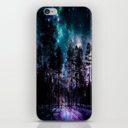 One Magical Night... teal & purple iPhone Skin