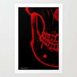 Glow Skull Art Print