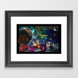 Dragonlings in Space Framed Art Print