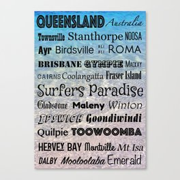 Queensland Poster Canvas Print