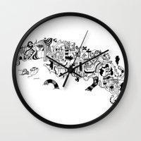 cuba Wall Clocks featuring CUBA by gabriel