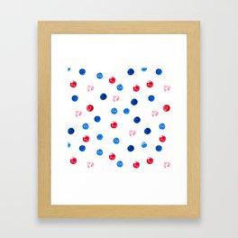 Polka dot Framed Art Print