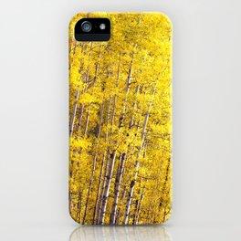 Yellow Grove of Aspens iPhone Case