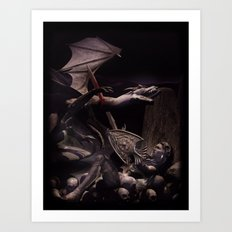 Dearg Doom the dragon Slayer Art Print