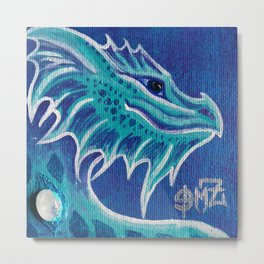 mini underwater dragon Metal Print