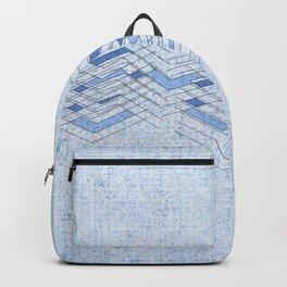 Manipulating blue Backpack