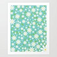 Fashion Floral Pattern Art Print
