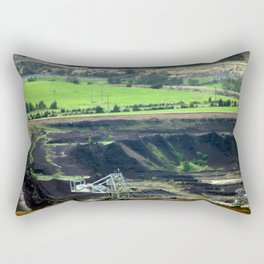 Black Coal ~ World's Contaminator  Rectangular Pillow