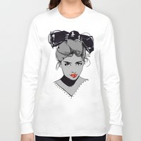 bow Long Sleeve T-shirts featuring bow by Galvanise The Dog