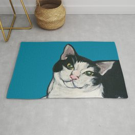 """Achilles the """"Cat From Hell"""" Rug"""