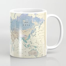 Antique Inspired World Map [shaded relief] Coffee Mug