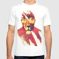 Lion Zion MEDIUM White Mens Fitted Tee