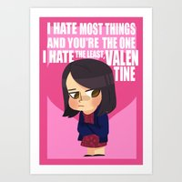 parks and rec Art Prints featuring Parks and rec valentines by Ana Amorim