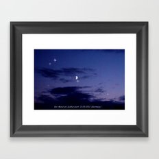 Mond am Südhorizomt. Framed Art Print