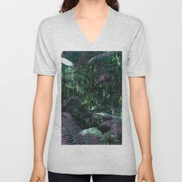 Frazer Island Rainforest in Green Unisex V-Neck